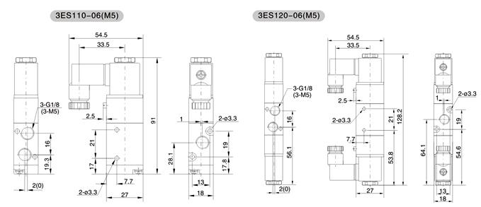 3es1系列二位三通电磁阀